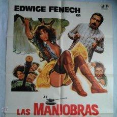 Cine: PÓSTER ORIGINAL LAS MANIOBRAS DE LA DOCTORA CON LOS SOLDADOS (1978). Lote 43620539