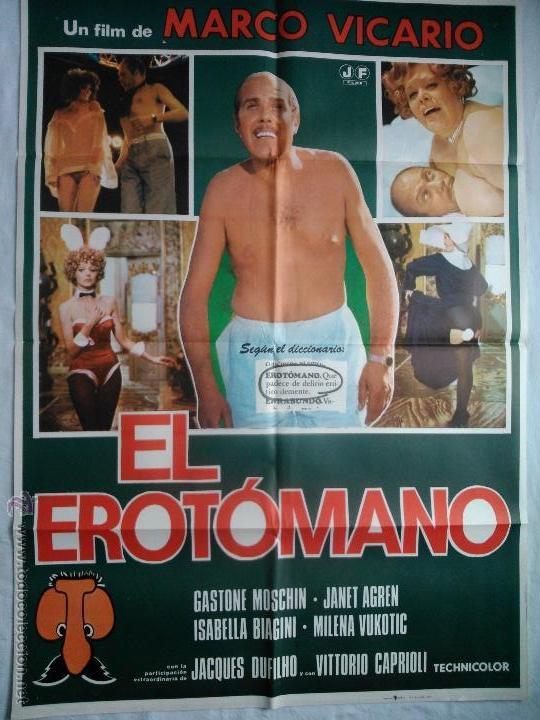 PÓSTER ORIGINAL EL EROTÓMANO (1977) (Cine - Posters y Carteles - Comedia)