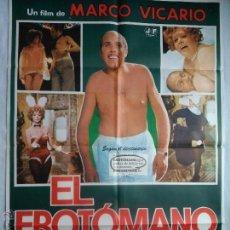 Cine: PÓSTER ORIGINAL EL EROTÓMANO (1977). Lote 43620717