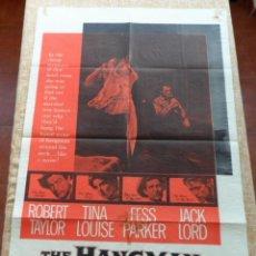 Cine: THE HANGMAN PÓSTER ORIGINAL DE LA PELICULA, DOBLADO, ORIGINAL, AÑO 1959, ROBERT TAYLOR, TINA LOUIS. Lote 43637807