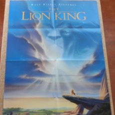 Cine: THE LION KING PÓSTER ORIGINAL DE LA PELICULA, ORIGINAL, DOBLADO, DOBLE CARA, 1994, HECHO EN U.S.A.. Lote 43637936