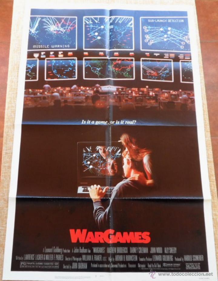 WAR GAMES (JUEGOS DE GUERRA) PÓSTER ORIGINAL DE LA PELICULA, ORIGINAL, DOBLADO,U.S.A., AÑO 1983 (Cine - Posters y Carteles - Suspense)