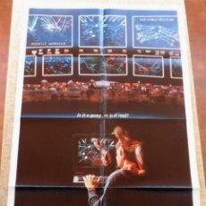 Cine: WAR GAMES (JUEGOS DE GUERRA) PÓSTER ORIGINAL DE LA PELICULA, ORIGINAL, DOBLADO,U.S.A., AÑO 1983. Lote 43638039