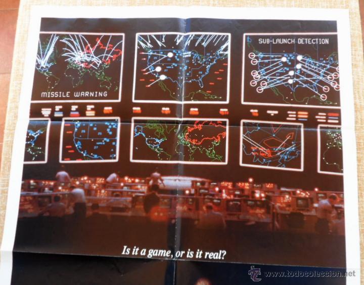 Cine: War Games (Juegos de Guerra) Póster original de la pelicula, Original, Doblado,U.S.A., año 1983 - Foto 2 - 43638039