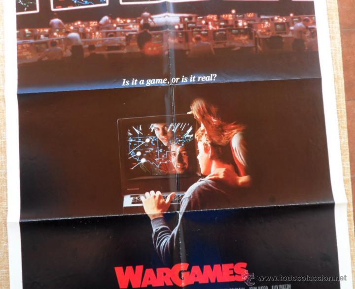 Cine: War Games (Juegos de Guerra) Póster original de la pelicula, Original, Doblado,U.S.A., año 1983 - Foto 3 - 43638039