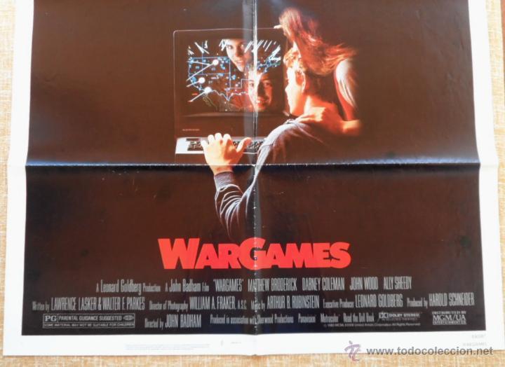 Cine: War Games (Juegos de Guerra) Póster original de la pelicula, Original, Doblado,U.S.A., año 1983 - Foto 4 - 43638039