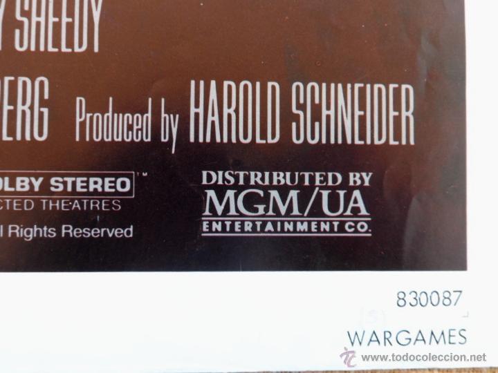 Cine: War Games (Juegos de Guerra) Póster original de la pelicula, Original, Doblado,U.S.A., año 1983 - Foto 5 - 43638039