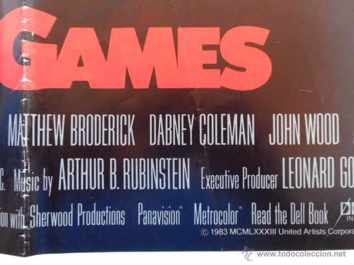 Cine: War Games (Juegos de Guerra) Póster original de la pelicula, Original, Doblado,U.S.A., año 1983 - Foto 6 - 43638039
