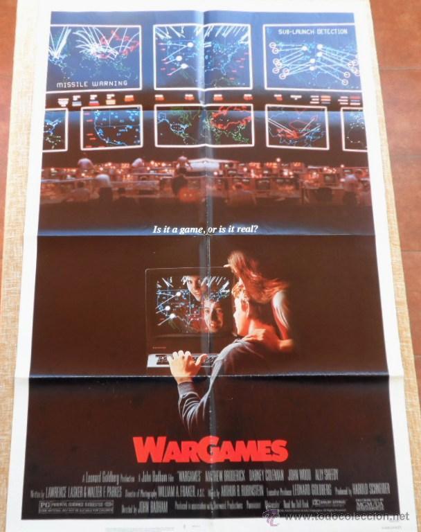 Cine: War Games (Juegos de Guerra) Póster original de la pelicula, Original, Doblado,U.S.A., año 1983 - Foto 8 - 43638039
