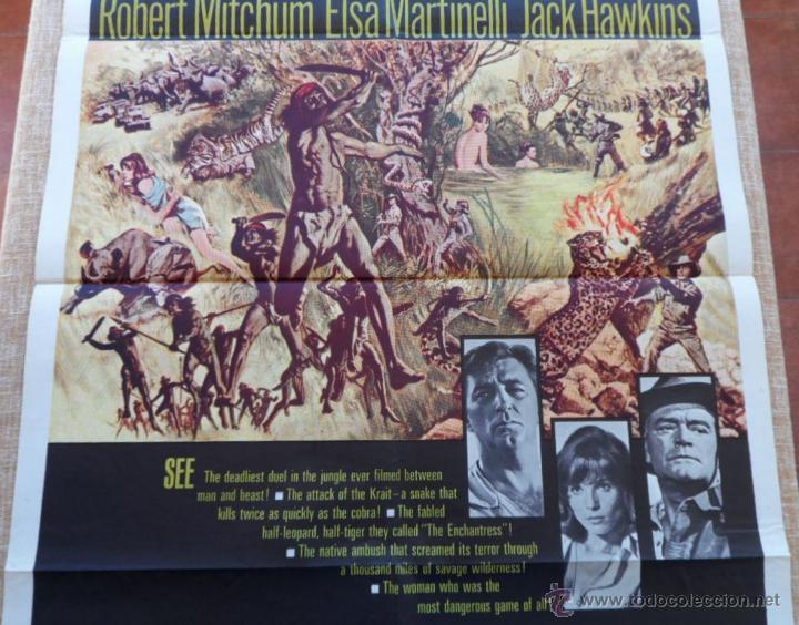 Cine: Rampage Póster original de la pelicula, Original, Doblado, Hecho en U.S.A., año 1963 - Foto 3 - 43638235