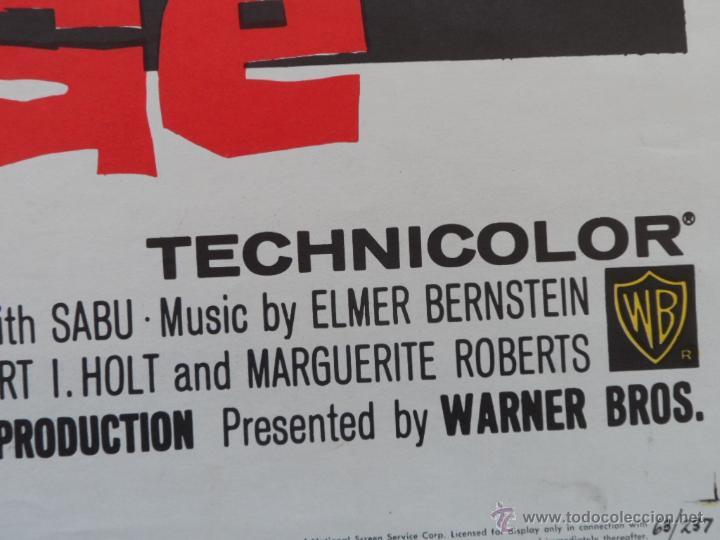 Cine: Rampage Póster original de la pelicula, Original, Doblado, Hecho en U.S.A., año 1963 - Foto 7 - 43638235