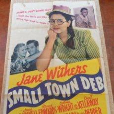 Cine: SMALL TOWN DEB PÓSTER ORIGINAL DE LA PELICULA, ORIGINAL, DOBLADO, HECHO EN U.S.A., AÑO 1941. Lote 43638739