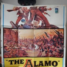 Cine: POSTER ORIGINAL RE-ESTRENO THE ALAMO JOHN WAYNE RICHARD WIDMARK LAURENCE HARVEY 1967 UNITED ARTIST. Lote 39879407