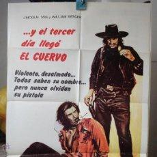 Cine: POSTER ORIGINAL E IL TERZO GIORNO ARRIVO IL CORVO ON THE THIRD DAY ARRIVED THE CROW WILLIAM BERGER. Lote 39880222
