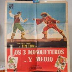 Cine: POSTER ORIGNAL ARGENTINO LOS TRES MOSQUETEROS Y MEDIO GERMAN VALDES TIN TAN GILBERT MARTÍNEZ SOLARES. Lote 39892239