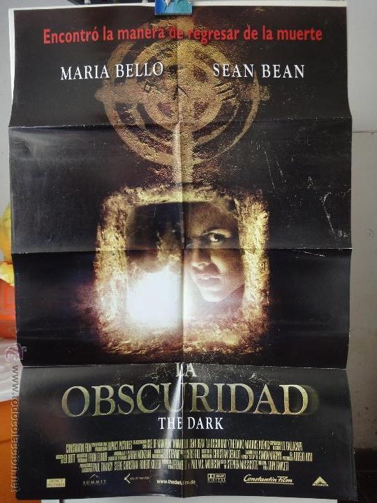 POSTER ORIGINAL LA OSCURIDAD DARK MARIA BELLO SEAN BEAN SOPHIE STUCKEY JOHN FAWCETT 2005 DOBLE LADO (Cine - Posters y Carteles - Terror)