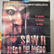 Cine: POSTER ORIGINAL EL JUEGO DEL MIEDO 2 SAW 2 DONNIE WAHLBERG BEVERLEY MITCHELL BOUSMAN 2005 DOBLE LADO. Lote 39974565
