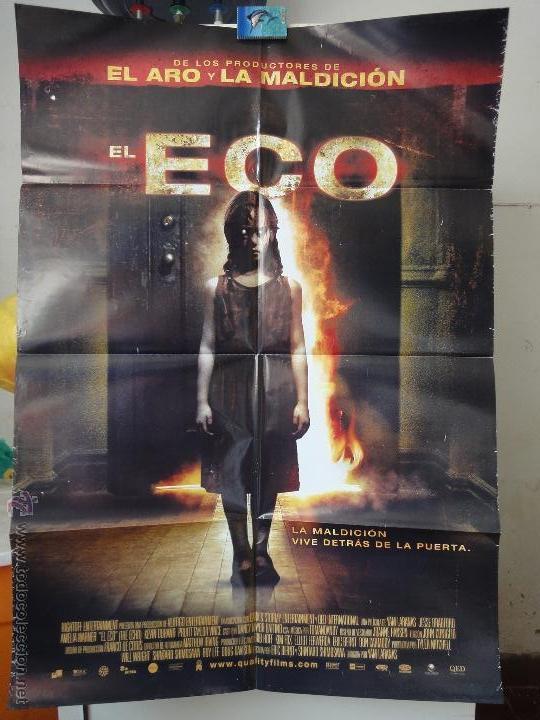 POSTER ORIGINAL EL ECO ECHO JESSE BRADFORD AMELIA WARNER CARLOS LEON YAM LARANAS 2008 DOBLE LADO (Cine - Posters y Carteles - Terror)