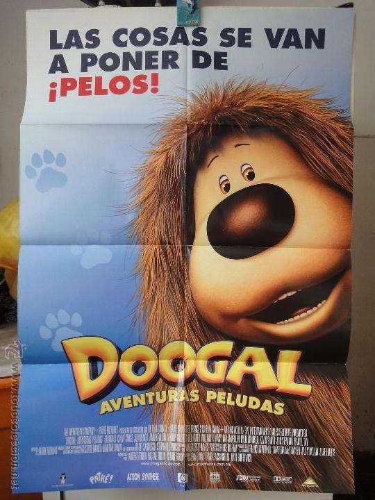POSTER ORIGINAL DOOGAL AVENTURAS PELUDAS DAVE BORTHWICK JEAN DUVAL FRANK PASSINGHAM 2006 DOBLE LADO (Cine - Posters y Carteles - Infantil)