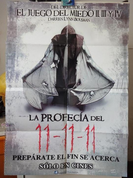 POSTER ORIGINAL LA PROFECIA DEL 11-11-11 TIMOTHY GIBBS DARREN LYNN BOUSMAN 2011 DELTA FILMS PERÚ (Cine - Posters y Carteles - Terror)