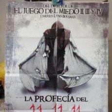 Cine: POSTER ORIGINAL LA PROFECIA DEL 11-11-11 TIMOTHY GIBBS DARREN LYNN BOUSMAN 2011 DELTA FILMS PERÚ. Lote 39978874