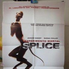 Cine: POSTER ORIGINAL EXPERIMENTO MORTAL SPLICE ADRIEN BRODY SARAH POLLEY DELP CHANEAC VICENZO NATALI 2009. Lote 39978943