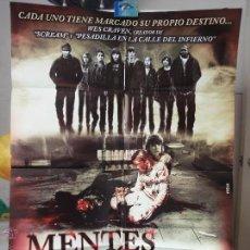 Cine: POSTER ORIGINAL MENTES DIABOLICAS MY SOUL TO TAKE MAX THIERIOT DENZEL WHITAKER WES CRAVEN DELTA FILM. Lote 39979405