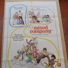 Cine: MIXED COMPANY PÓSTER ORIGINAL DE LA PELÍCULA, ORIGINAL, ESTILO A, DOBLADO, HECHO EN U.S.A., AÑO 1974. Lote 43656408
