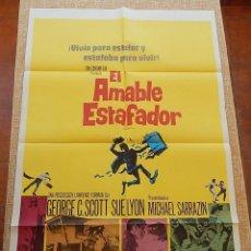 Cine: THE FLIM-FLAM MAN PÓSTER ORIGINAL DE LA PELÍCULA, ORIGINAL, DOBLADO, ESPAÑOL, 1967, HECHO EN U.S.A. Lote 43656476