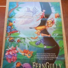 Cine: FERNGULLY THE LAST RAINFOREST PÓSTER ORIGINAL DE LA PELÍCULA, ORIGINAL, DOBLADO, AÑO 1992, U.S.A.. Lote 43656791