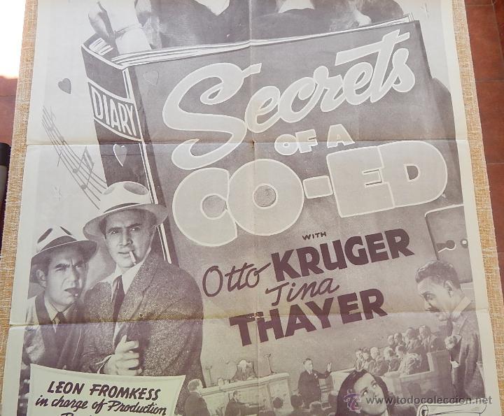 Cine: Secrets of a Co-Ed Póster original de la película, Original, Doblado, Reproducción de 1948, U.S.A. - Foto 3 - 43656915