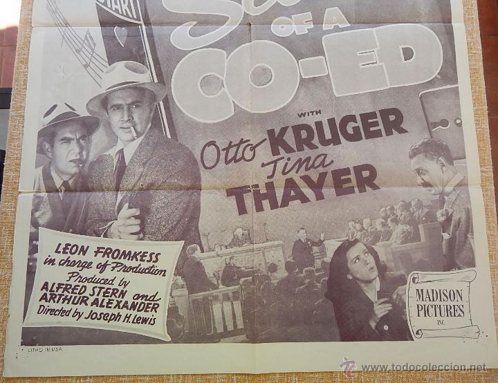 Cine: Secrets of a Co-Ed Póster original de la película, Original, Doblado, Reproducción de 1948, U.S.A. - Foto 4 - 43656915