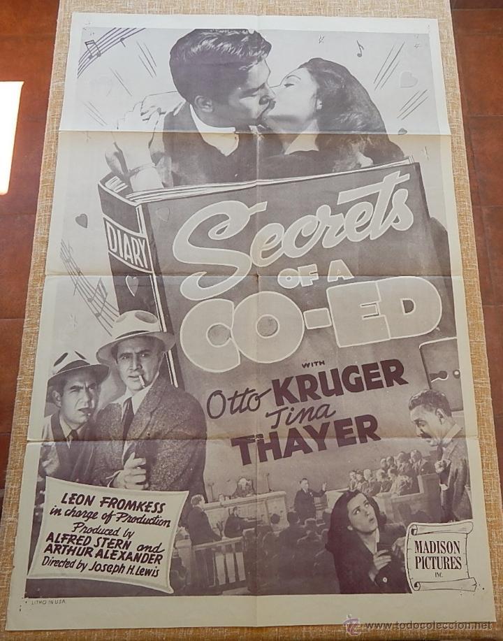 Cine: Secrets of a Co-Ed Póster original de la película, Original, Doblado, Reproducción de 1948, U.S.A. - Foto 9 - 43656915