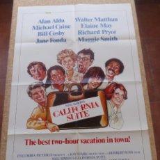 Cine: CALIFORNIA SUITE PÓSTER ORIGINAL DE LA PELÍCULA, ORIGINAL, DOBLADO, HECHO EN U.S.A., AÑO 1978, ALDA. Lote 43657312