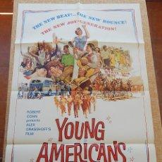 Cine: YOUNG AMERICANS PÓSTER ORIGINAL DE LA PELÍCULA, ORIGINAL, DOBLADO, HECHO EN U.S.A., AÑO 1967. Lote 43659566