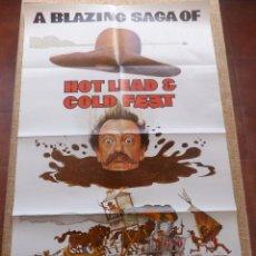 Cine: HOT LEAD AND COLD FEET PÓSTER ORIGINAL DE LA PELÍCULA, ORIGINAL, DOBLADO, HECHO EN U.S.A., AÑO 1978. Lote 43670616