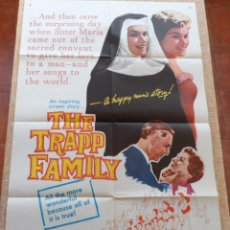 Cine: THE TRAPP FAMILY PÓSTER ORIGINAL DE LA PELÍCULA, ORIGINAL, DOBLADO, AÑO 1960, HECHO EN U.S.A.. Lote 43680526