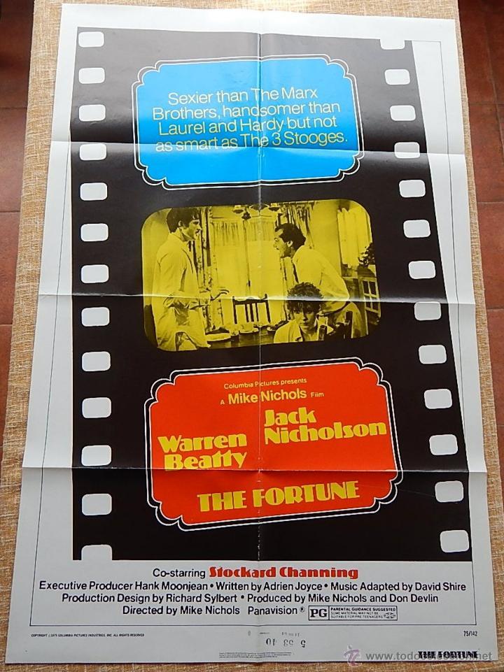 THE FORTUNE PÓSTER ORIGINAL DE LA PELÍCULA, ORIGINAL, DOBLADO, AÑO 1975, HECHO EN U.S.A. (Cine - Posters y Carteles - Comedia)