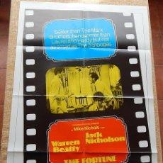 Cine: THE FORTUNE PÓSTER ORIGINAL DE LA PELÍCULA, ORIGINAL, DOBLADO, AÑO 1975, HECHO EN U.S.A.. Lote 43680682