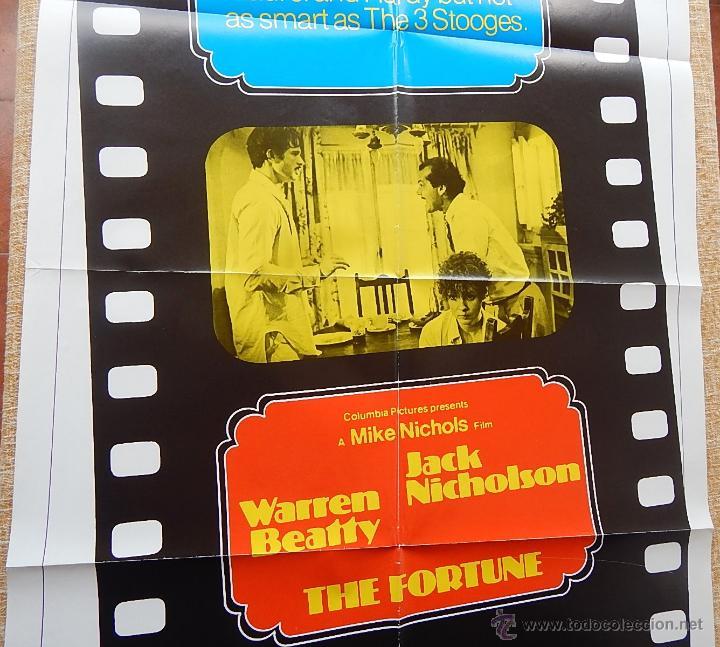 Cine: The Fortune Póster original de la película, Original, Doblado, año 1975, Hecho en U.S.A. - Foto 3 - 43680682