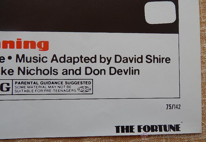 Cine: The Fortune Póster original de la película, Original, Doblado, año 1975, Hecho en U.S.A. - Foto 7 - 43680682