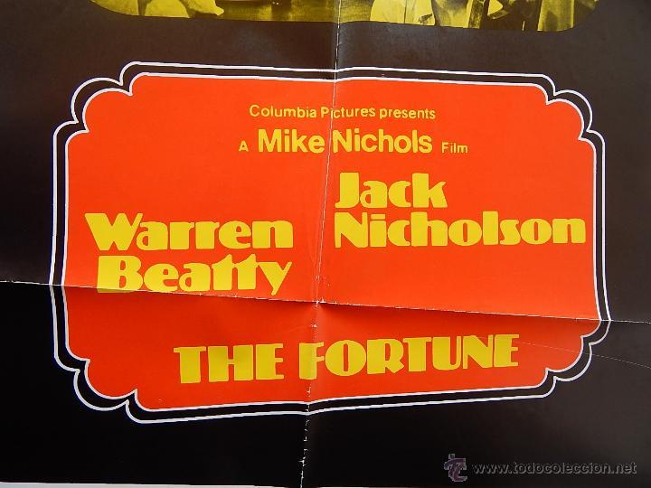Cine: The Fortune Póster original de la película, Original, Doblado, año 1975, Hecho en U.S.A. - Foto 8 - 43680682