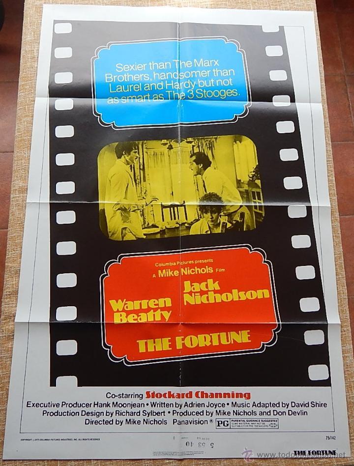 Cine: The Fortune Póster original de la película, Original, Doblado, año 1975, Hecho en U.S.A. - Foto 9 - 43680682