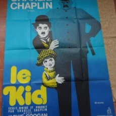 Cine: THE KID PÓSTER FRANCÉS ORIGINAL DE LA PELÍCULA, ORIGINAL, DOBLADO, REPRODUCCIÓN DE 1950. Lote 43698023