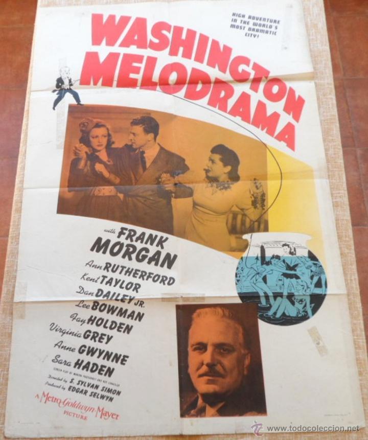 WASHINGTON MELODRAMA PÓSTER ORIGINAL DE LA PELÍCULA, ORIGINAL, DOBLADO, HECHO EN U.S.A., AÑO 1941 (Cine- Posters y Carteles - Drama)
