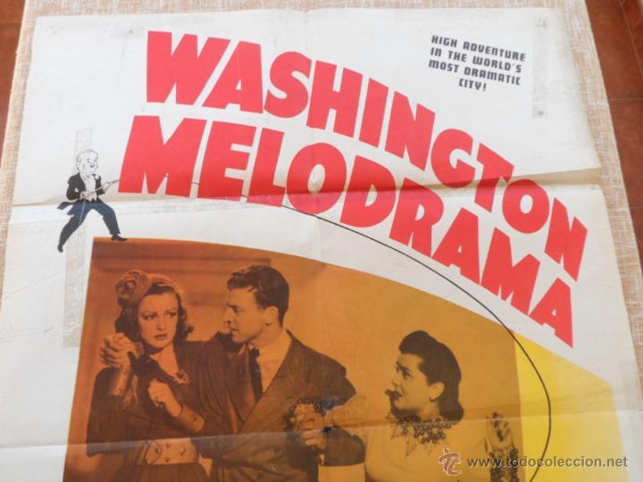 Cine: Washington Melodrama Póster original de la película, Original, Doblado, Hecho en U.S.A., año 1941 - Foto 2 - 43701910