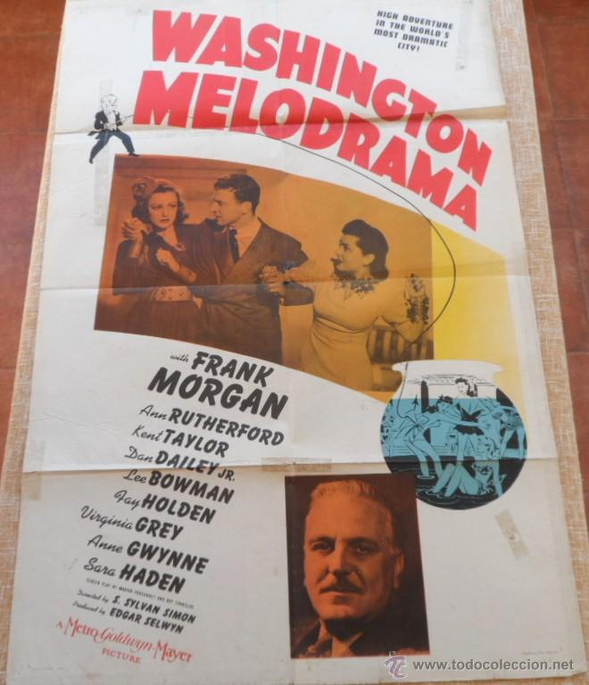 Cine: Washington Melodrama Póster original de la película, Original, Doblado, Hecho en U.S.A., año 1941 - Foto 8 - 43701910