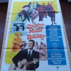 Cine: COUNTRY MUSIC HOLIDAY PÓSTER ORIGINAL DE LA PELÍCULA, ORIGINAL, DOBLADO, HECHO EN U.S.A., AÑO 1958. Lote 43701943