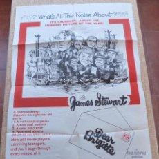 Cine: DEAR BRIGITTE PÓSTER ORIGINAL DE LA PELÍCULA, ORIGINAL, DOBLADO, HECHO EN U.S.A, AÑO 1965, FABIAN. Lote 43710092