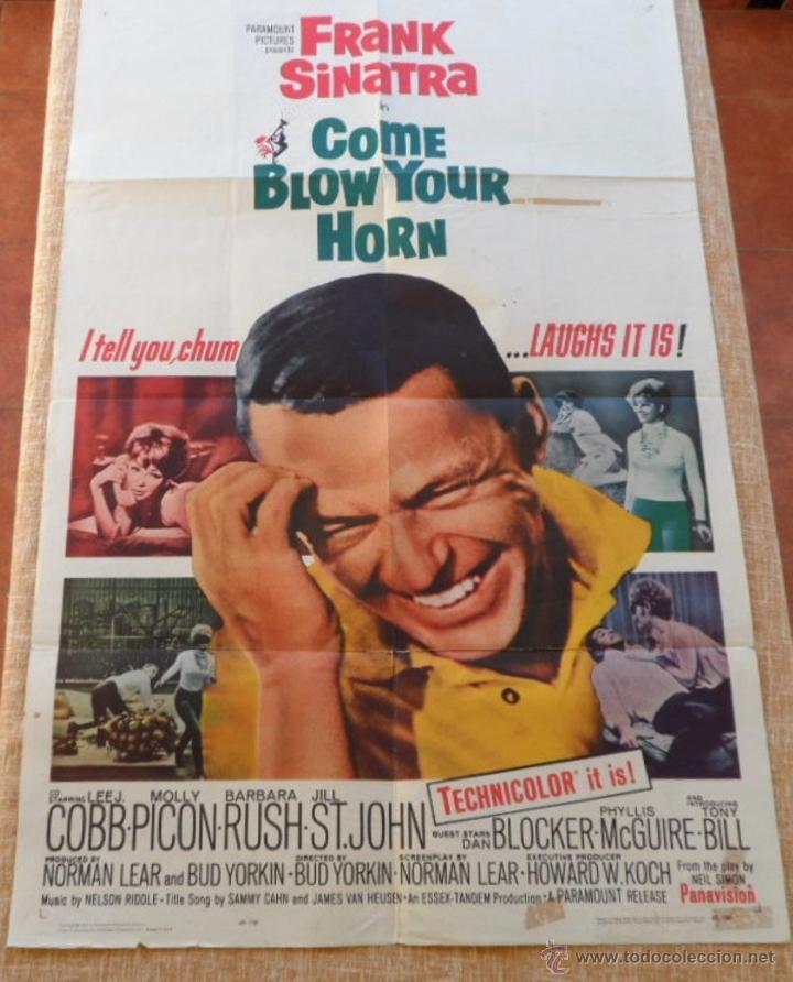 COME BLOW YOUR HORN PÓSTER ORIGINAL DE LA PELÍCULA, ORIGINAL, DOBLADO, HECHO EN U.S.A., AÑO 1963 (Cine - Posters y Carteles - Comedia)
